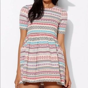 Sister Jane Dolly Folk Stripe Mini Dress